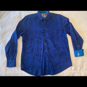 Blue Robert Graham shirt